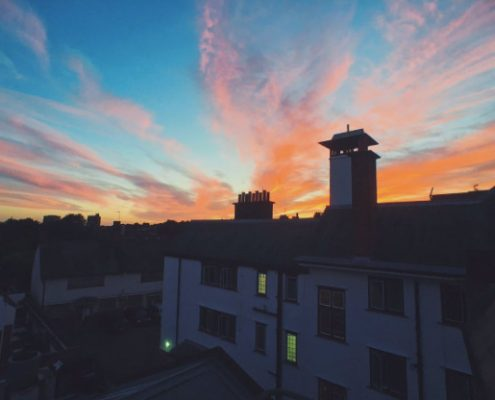 An amazing sunset over Whampstead spotted by @lironada
