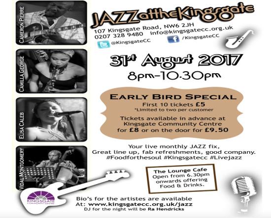 Kingsgate Jazz evening @ Kingsgate Centre