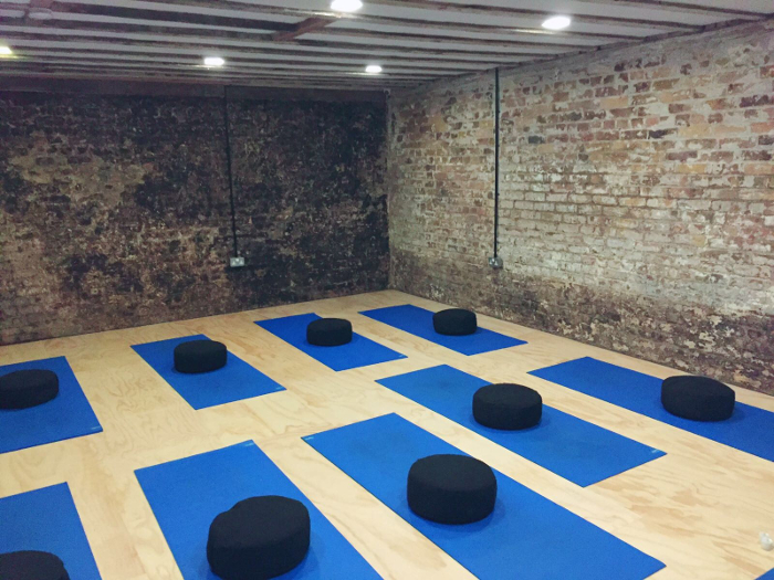 Inside the Yoga London Club studio on Broadhurst Gardens