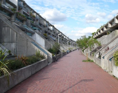 The Rowley Way Estate (aka Alexandra and Ainsworth) the final flourish of brutalist housing. Image: Open Buildings